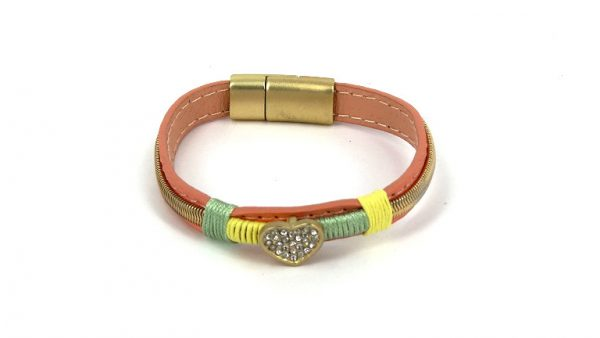 Armband Ibizastyle met hart en strass 8,95