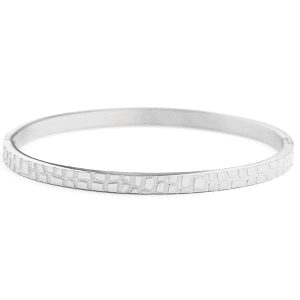Stainless steel armband crocodile zilver