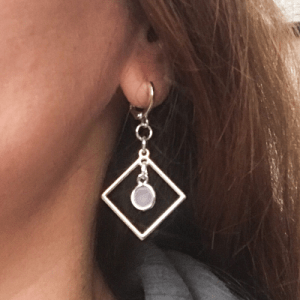 Geometische oorbellen