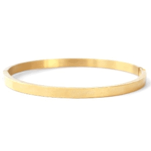 Stainless Steel bangle armband smal goud