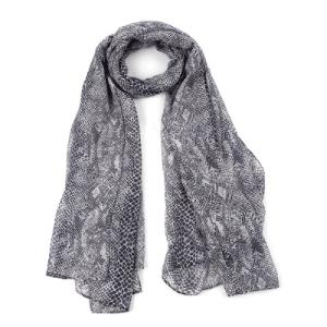 Sjaal slangenprint grijs bruin