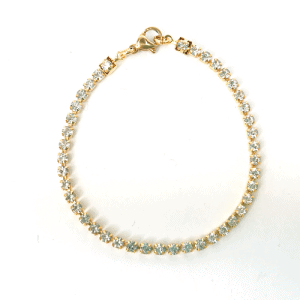 Strass armbandje kristal goud