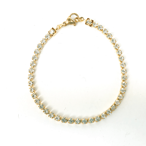 Strass armbandje kristal goud2