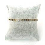 Strass armbandje zwart en kristal steentjes goud2