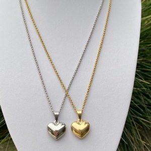Stainless steel ketting bolhart zilver en goud