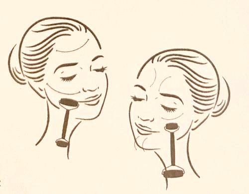 Jade gezichtsroller gebruik