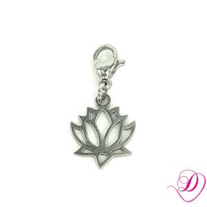 Bedel lotusbloem zilver