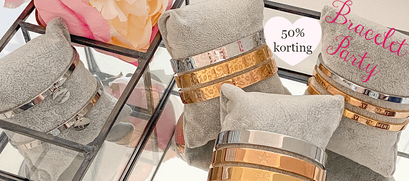 Stainless steel armbanden bracelet party 50% korting