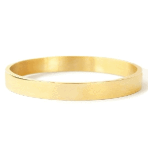Stainless Steel bangle armband breed goud