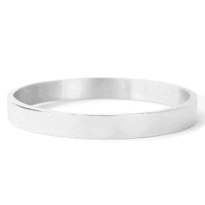 Stainless Steel bangle armband breed zilver