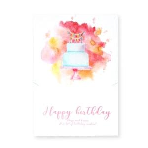 Sieraden kaartje Happy Birthday