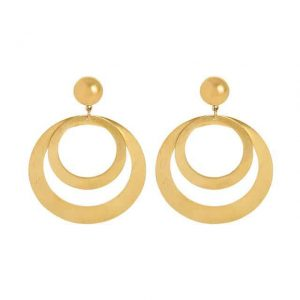 Oorbellen double circle goud