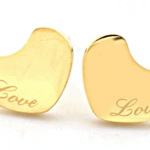 Stainless steel studs Hartje love goud