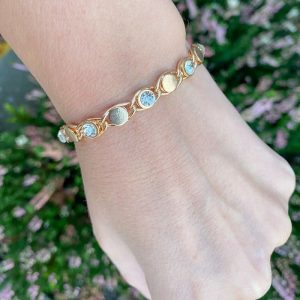 Armband Glitter met strass steentje goud.png1