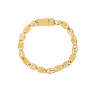 Armband Glitter met strass steentje goud