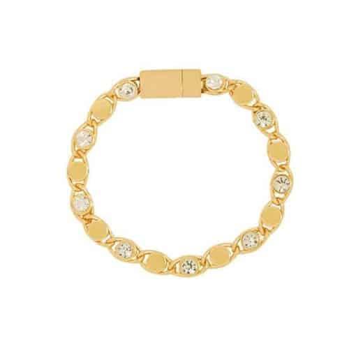 Armband Glitter met strass steentje goud2
