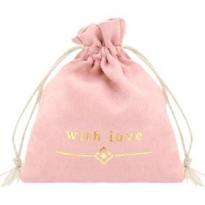 Sieraden zakje with love roze