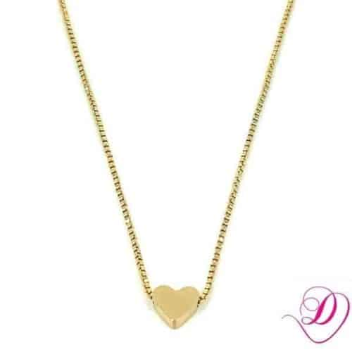 Stainless steel ketting hartje