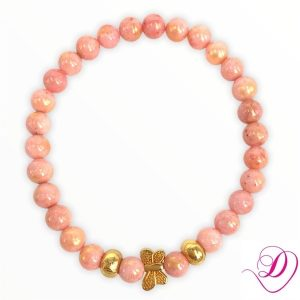 Jade armband Butterfly Mari Orange goud