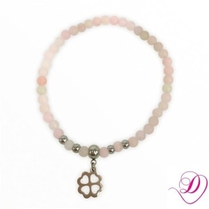 Jade armband Clover light Pink