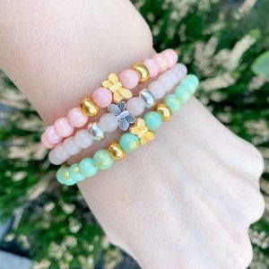 Jade armbanden Butterfly